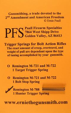 Remington 788 Hunter Trigger Spring